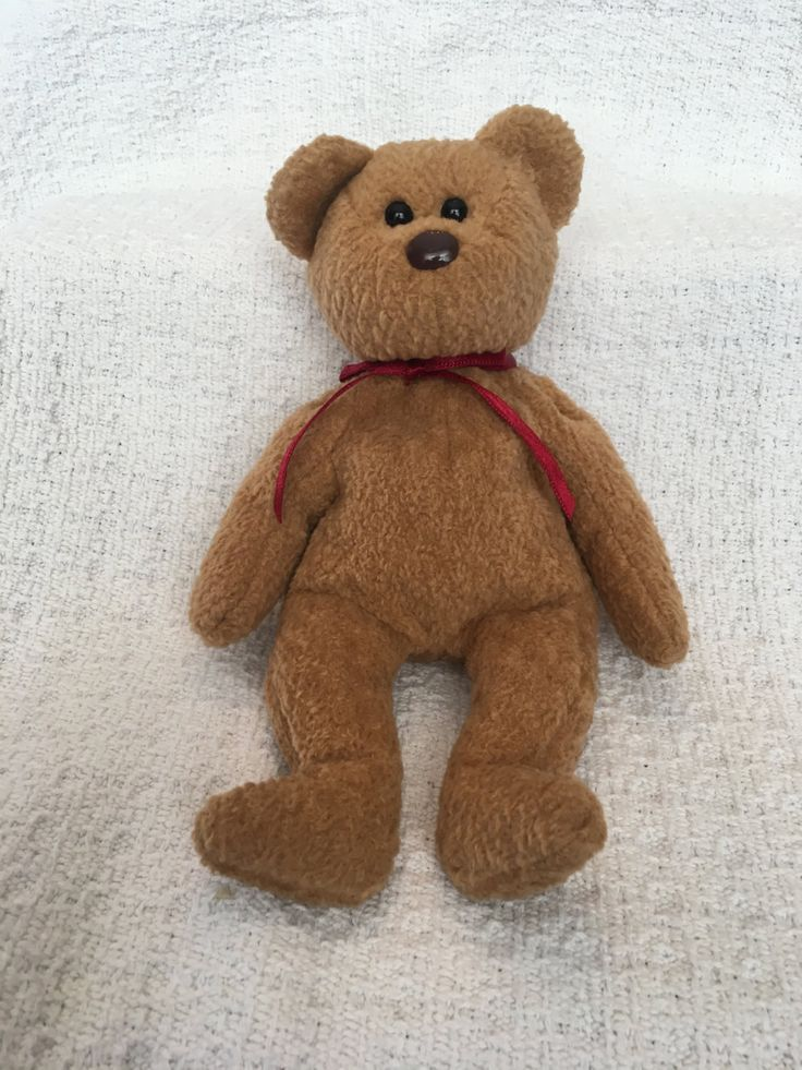 Beanie Baby, Ty Beanie Baby, Curly the Bear, Bear Plush, Bear Beanie Baby, Ty Bears, Ty Babies, Plush Bears, Curly Ty Baby