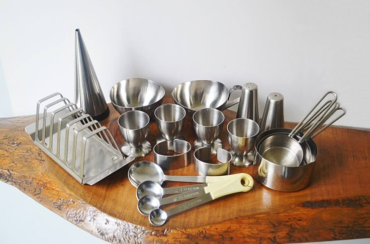 Excited to share the latest addition to my #etsy shop: Vintage Stainless Steel Kitchen Set, Salt And Pepper, Toast Rack, Oil Pourer, Measuring Cup, Measuring Spoon, Egg Cup, Cream And Sugar Bowl #housewares #silver #housewarming #christmas #steel #stainlesssteel #kitchenutensils #measuringcups #measuringspoons http://etsy.me/2A1YHav
