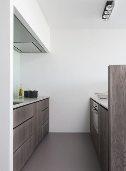 Small galley kitchen ( grey oak)