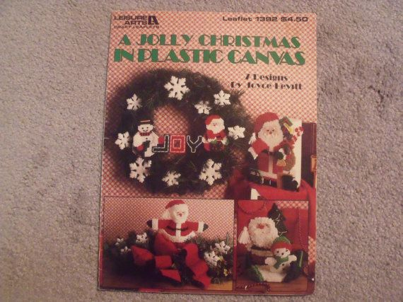 A Jolly Christmas Plastic Canvas Book 7 Designs by Joyce