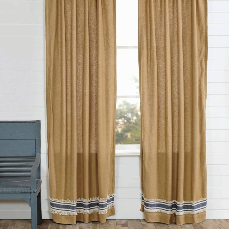 Valance W Burlap Ties And: Burlap Window Treatments, Cream Curtains And