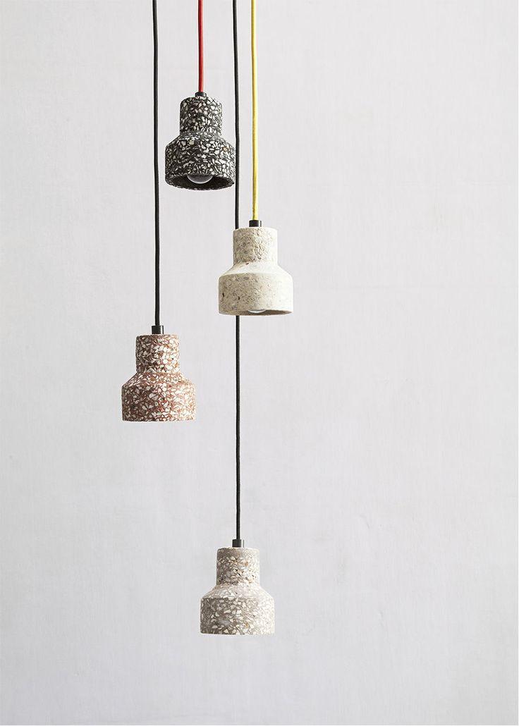 Pendant lamp / contemporary / terrazzo / LED TU  Bentu