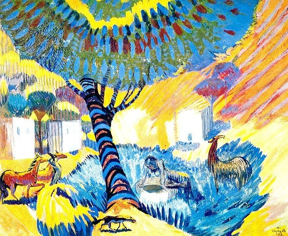 Martiros Saryan - By the well on a hot day, 1908.