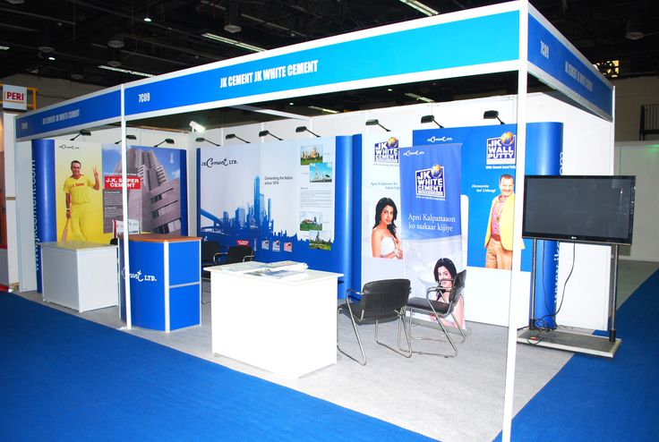 Real Estate Exhibition Stall : Exhibition stall for jk cement at et acetech visit us to