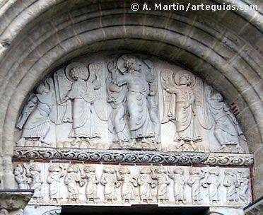 Tímpano de la puerta lateral de Saint Sernin de Toulouse, Francia