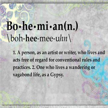 Bohemian-Definition