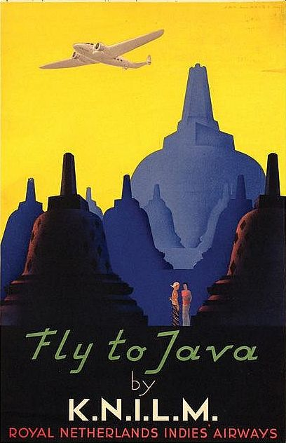 By Jan Lavies (1902-2005), 1938, Fly to Java by K.N.I.L.M.