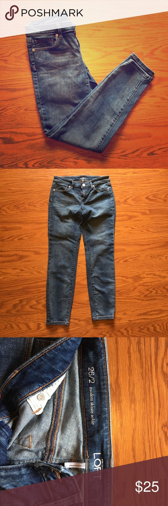 Anne Taylor Loft skinny ankle pant, Size 2 Ann Taylor Loft Modern Skinny Ankle, Size 2. Excellent used condition! No flaws! Ann Taylor Jeans Ankle & Cropped