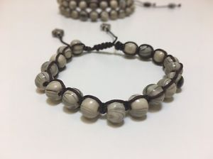 Shamballa Jewelry Brown Rope 6 mm Gray Wood Beaded Bracelet for Woman lot of 3  | eBay