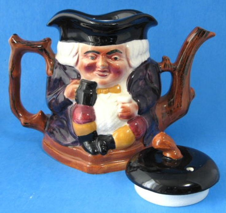 Edwardian Toby Jug Teapot Figural Shorter Cross Legs England 1905-1920 – Antiques And Teacups