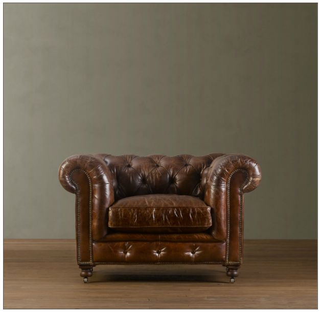Gentlemans club chair Introducing Man Cave Monday: Leather Chairs   Nashville Luxury Team