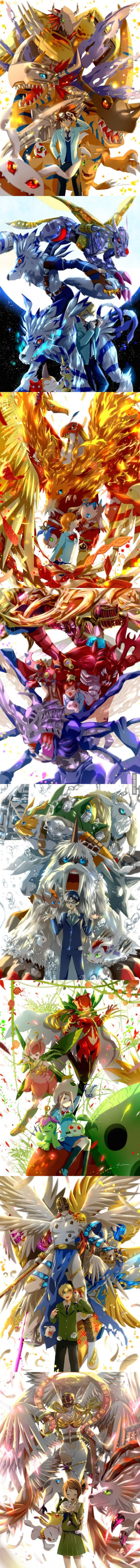 #Digimon Adventure | Main Characters and Digimons