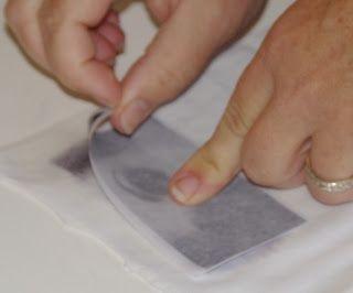L'atelier du petit dragon bleu: transfert sur tissu avec acétone