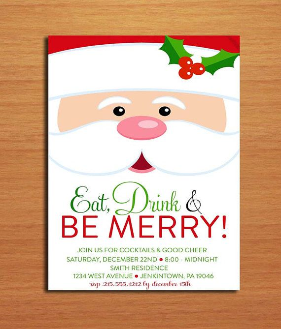 17 best images about Christmas Party on Pinterest Christmas - free christmas invitations printable template