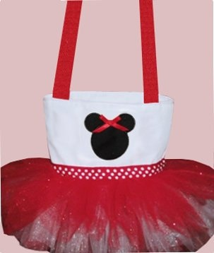 Red Minnie Mouse Tutu Tote Bag by SewPizazzed on Etsy,