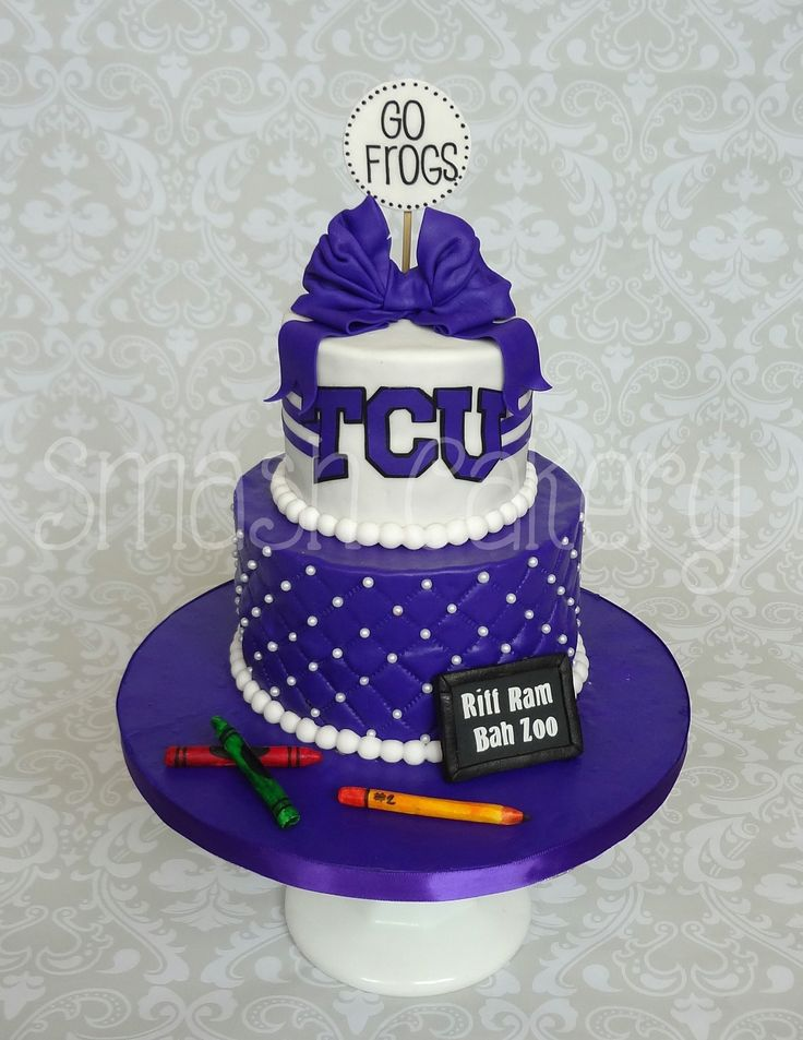 11 best Cakes - TCU images on Pinterest Graduation cake ...