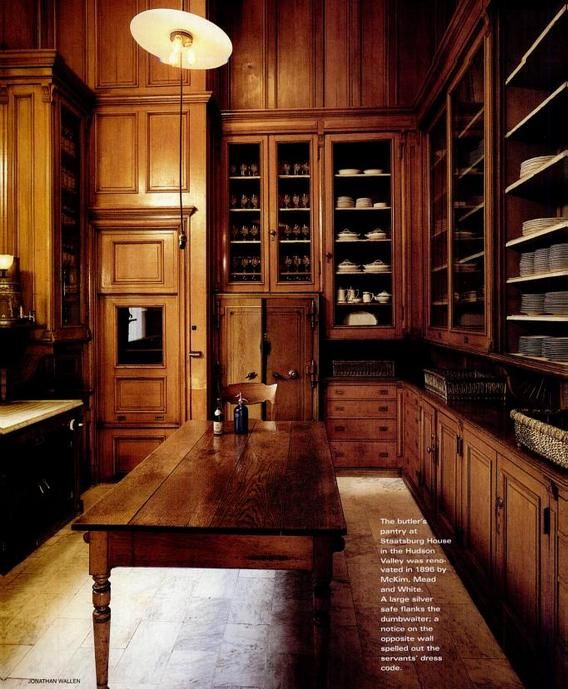 Victorian butlers pantry. Wow.