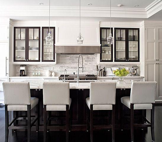 city home kitchen toronto jennifer worts design inc like contrasting trim glass cabinets and dark island in white kitchen