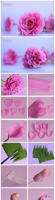 tissue paper flower...♥♥...