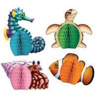 Centrepiece Honeycomb Mini Sea Creatures Pkt4 $11.95 BE50449