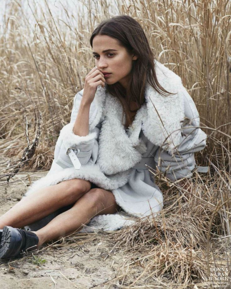 """""""Sweet Solitude"""" Alicia Vikander for InStyle US August 2015 - Donna Karan"""