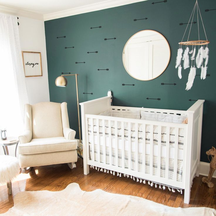 Pin By Gwyn Loope On 6month Bedroom Nursery Accent Wall Green