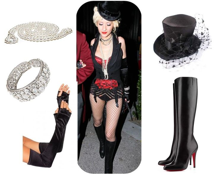 How to Dress for a Moulin Rouge Party (With Pictures!) Big hats, gloves and fishnets!
