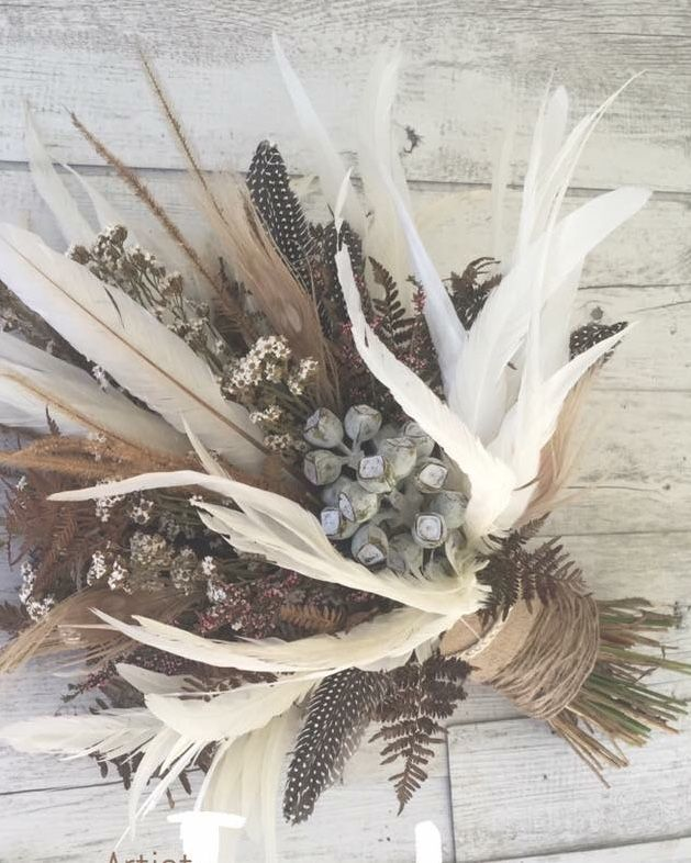 Feather Bouquet Wedding