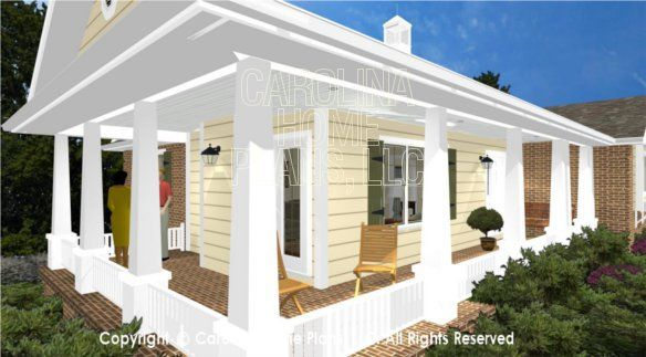 76 best images about house plans with porches on pinterest for Small cabin floor plans wrap around porch