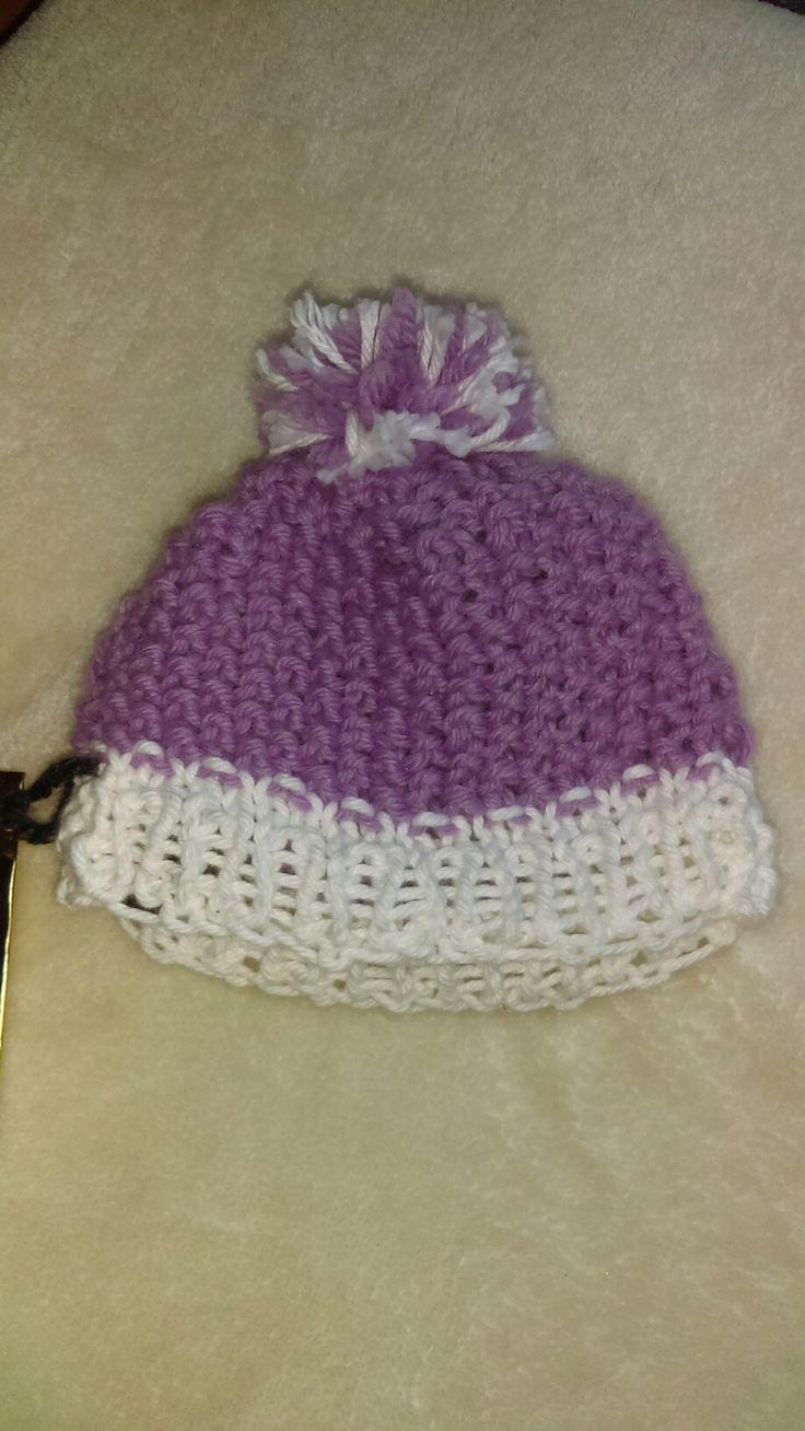 Baby hat seed stitch handmade