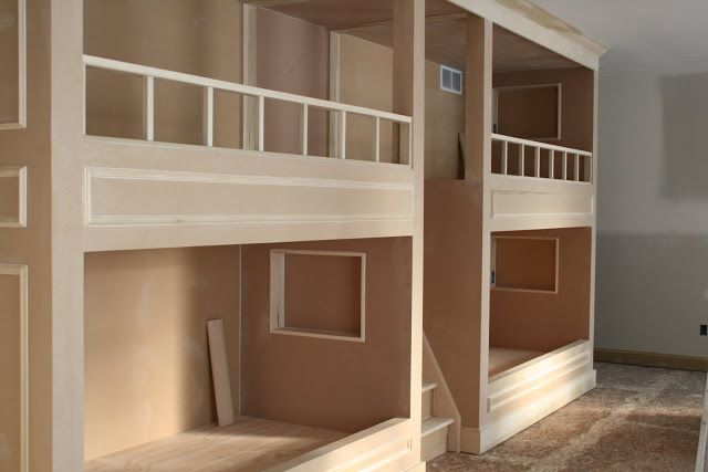Good way to see the a little of the process of built-in bunks