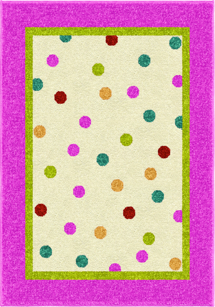 Innocence Collection Polkadot Posies Pink Olefin Area Rug   Overstock™  Shopping   Great Deals On Carolina Weavers   Rugs