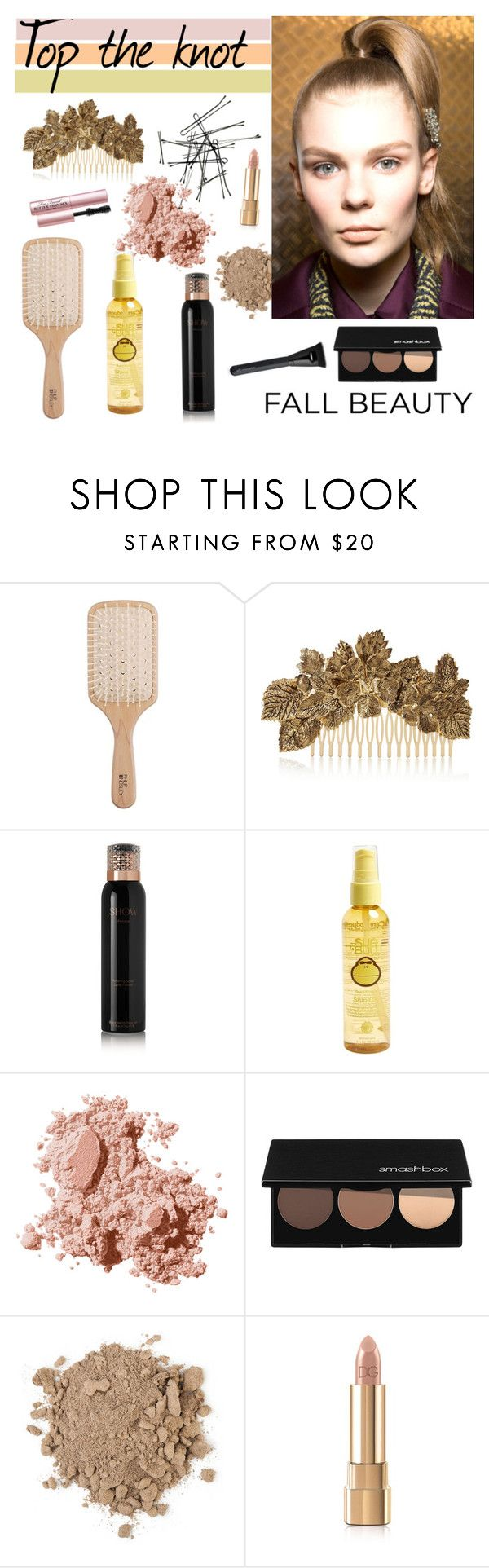 """""""Fall hair 2015"""" by tauriel25 ❤ liked on Polyvore featuring beleza, Philip Kingsley, Maison Michel, Show Beauty, Sun Bum, Bobbi Brown Cosmetics, Smashbox, Dolce&Gabbana, Too Faced Cosmetics e hairstyle"""