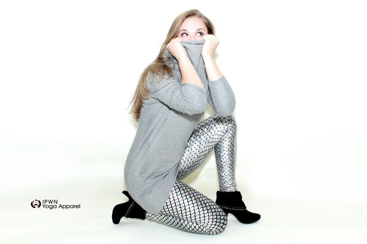 Silver mermaid Yoga pants