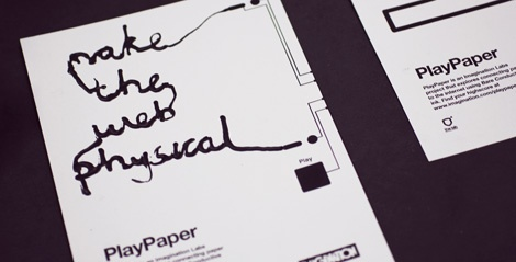 PlayPaper - an Imagination Labs project for Fieldguide (findplaymake.com) at Mozilla Festival 2012 (mozillafestival.org), that explores connecting paper to the internet using Bare Conductive ink.