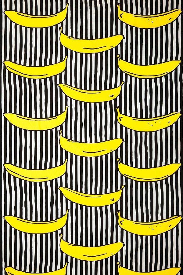 Wallpaper Design motif banane accents flash mur