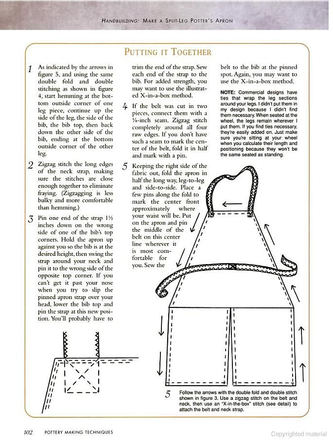 Split leg apron pattern  Pottery Making Techniques: A Pottery Making Illustrated Handbook - Google Books