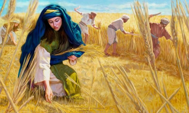 Image result for woman picking up barley