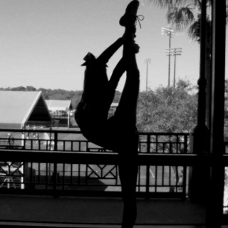 Cheerleading, scorpion, flexibility hoping that will be me one day.
