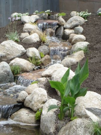 Nice little waterfall to flow into the garden pond