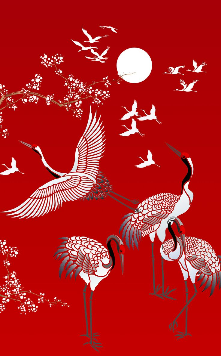 All Japanese Cranes Theme Pack Stencil