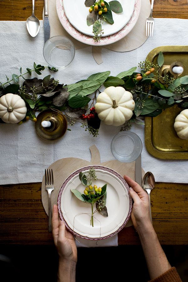 DIY Thanksgiving crafts Pumpkin placemats