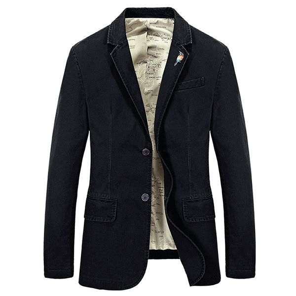 Mens Military Outdoor Slim Fit Jacket Casual Business Solid Color Coat Suit