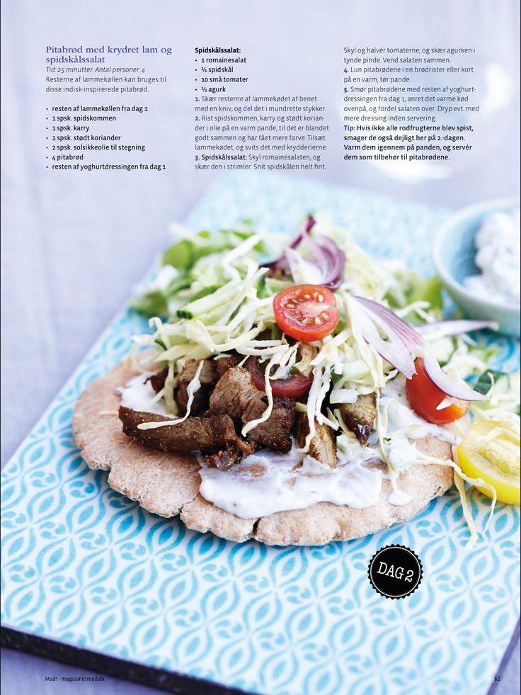 Pitabrød med krydret lam