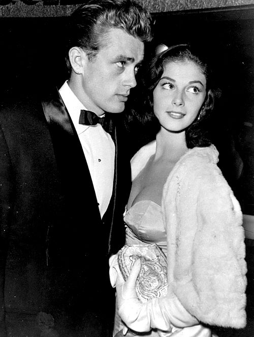 James Dean and Pier Angeli. He might have been gay, but this girl broke his heart. She married Vic Damone and he supposedly drove to the church on his motorcyle and watched from across the street. Nice image...