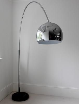 Large Chrome Arch Floor Lamp By Out There Interiors | Visit  Www.modernfloorlamps.net