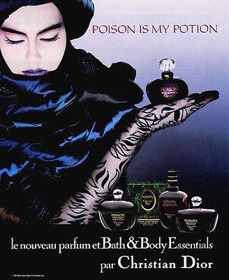 Perfume Ad 1987 Christian Dior Poison Is My Potion Perfume Sensual Mood