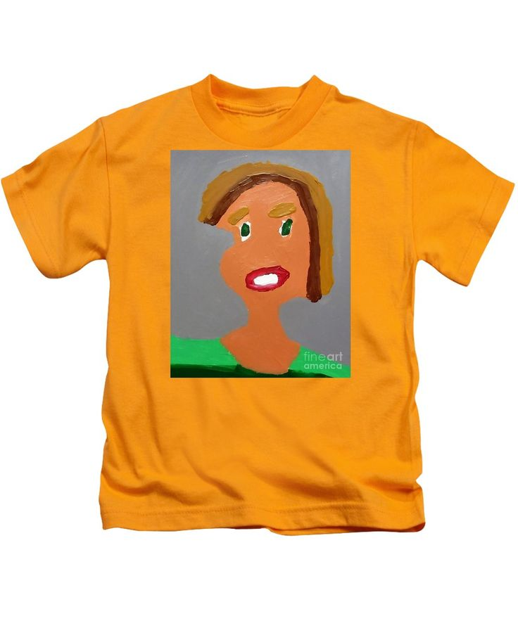 Patrick Kids T-Shirt featuring the painting Portrait Of A Young Girl 2015 by Patrick Francis