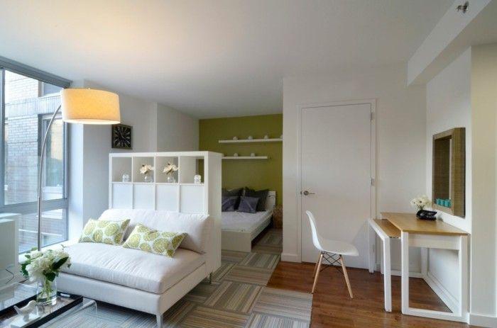 kleine wohnung einrichten einzimmerwohnung wohnideen wohnzimmer ... - Wohnzimmer Retro Stil