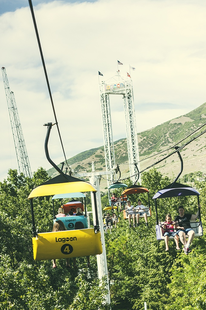Lagoon amusement park- Utah. I love to ride the ski lift to the other side of the park!